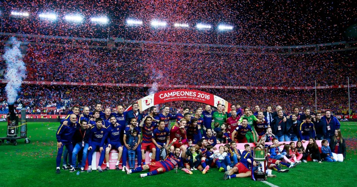 Barcelona: Celebrate Copa del Rey success