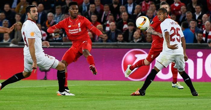 Daniel Sturridge scores Liverpool v Sevilla
