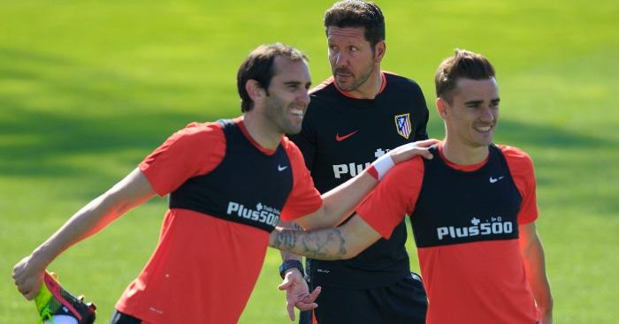 Diego Godin Antoine Griezmann Atletico Madrid