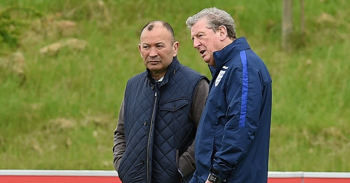 Eddie Jones and Roy Hodgson: Met at St George's Park