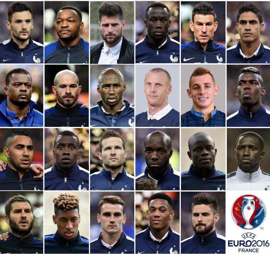 France's 23-man Euro 2016 squad