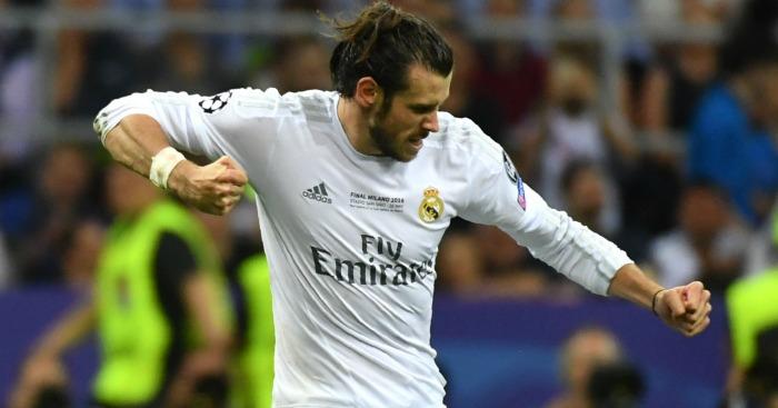 Gareth Bale Real Madrid celebrates
