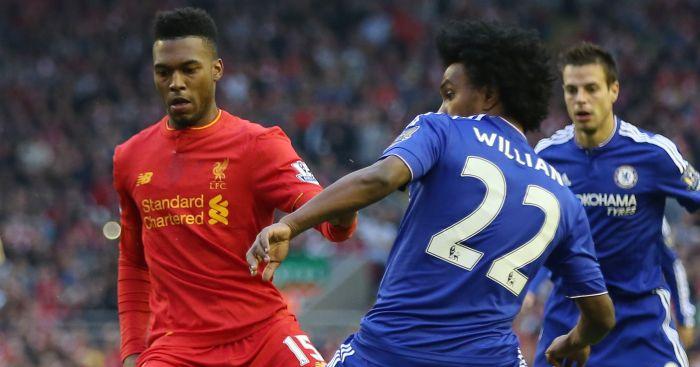 Daniel Sturridge: Battles with Willian in Anfield draw