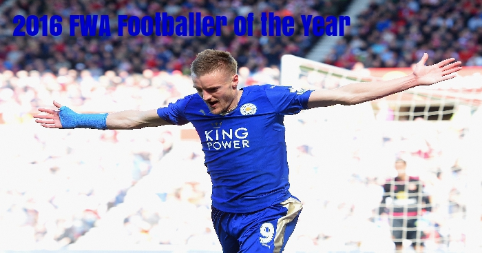 Jamie Vardy: 2016 FWA Footballer of the Year