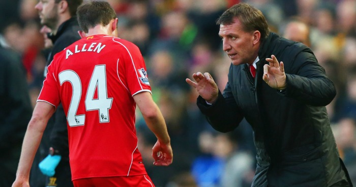 Joe Allen Brendan Rodgers Liverpool