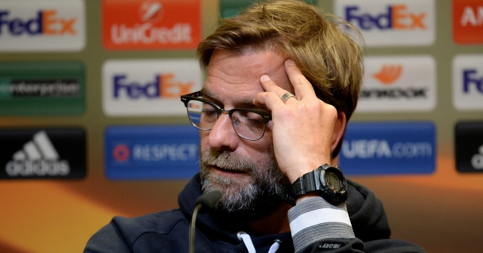Jurgen Klopp: Faced the media on Monday