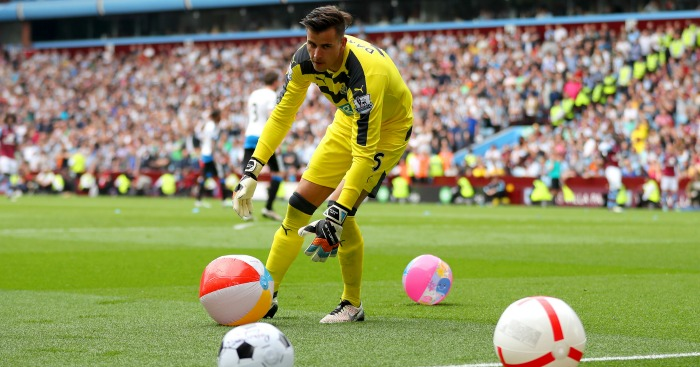 Karl Darlow: Clears away the beach balls