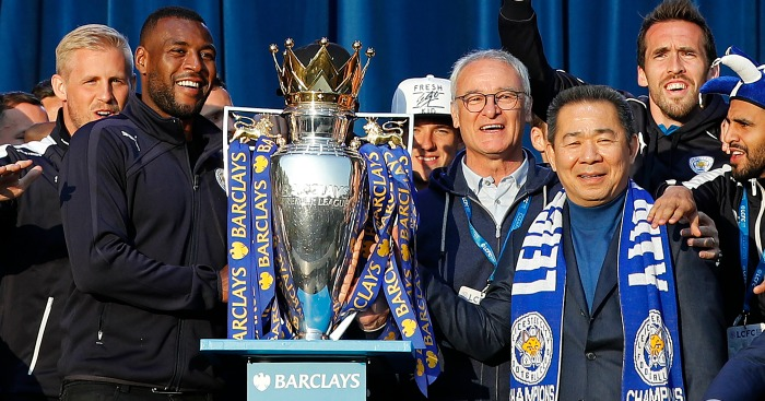 Leicester: Celebrate their title triumph on Monday