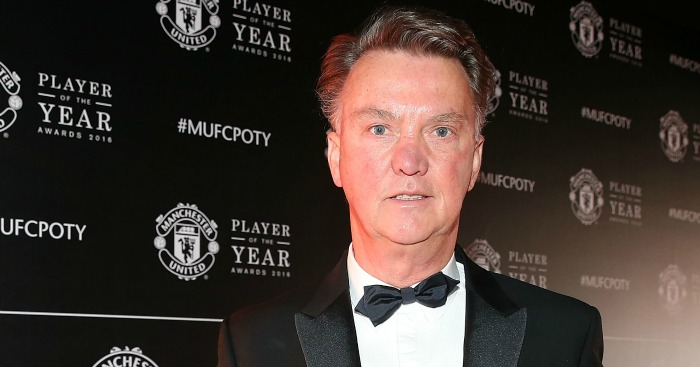 Louis van Gaal: Arrives for the Man Utd POTY awards