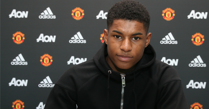 Marcus Rashford: Puts pen to paper on new United deal