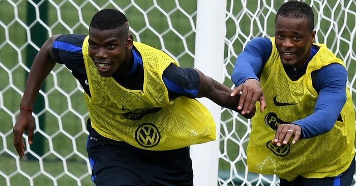 Paul Pogba Patrice Evra France