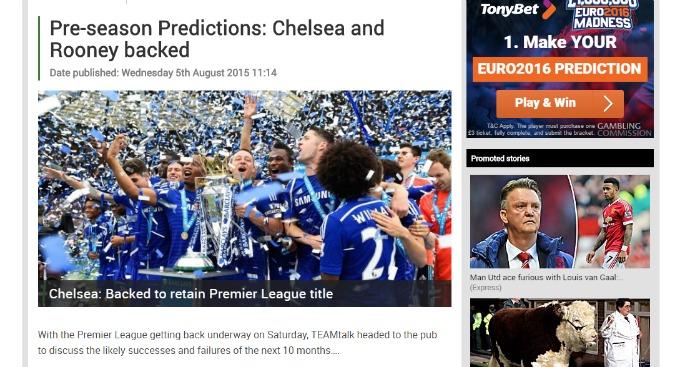 Pre season Predictions