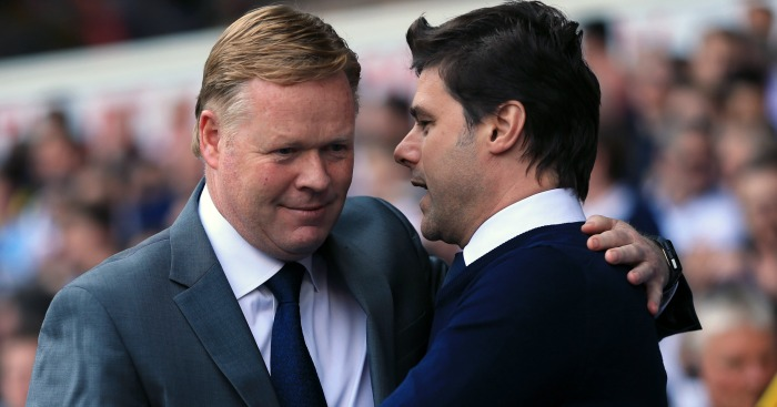 Ronald Koeman: Shares an embrace with Mauricio Pochettino