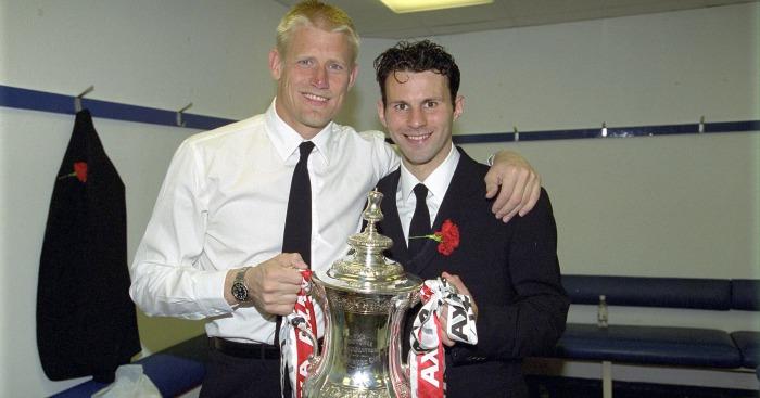 Ryan Giggs Peter Schmeichel Manchester United 1999