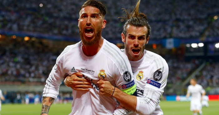 Sergio Ramos: Celebrates his opener for Real Madrid