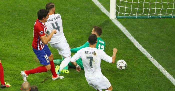 Sergio Ramos scores Real Madrid