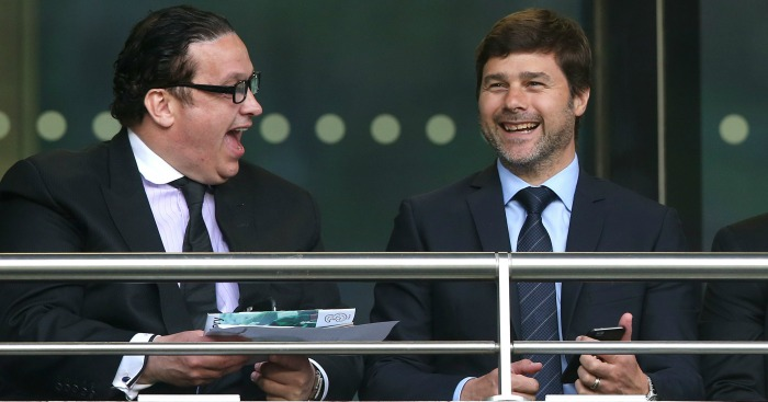 Mauricio Pochettino: Shares a joke with Pat Dolan