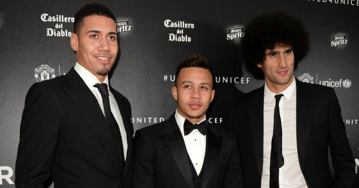 Smalling, Depay & Fellaini: At the Manchester United awards