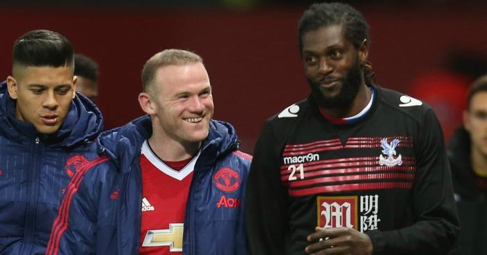 Wayne Rooney & Emmanuel Adebayor: Who will be smiling on Saturday night?