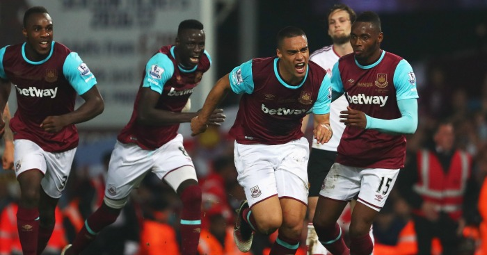 Winston Reid: Celebrates his winning goal