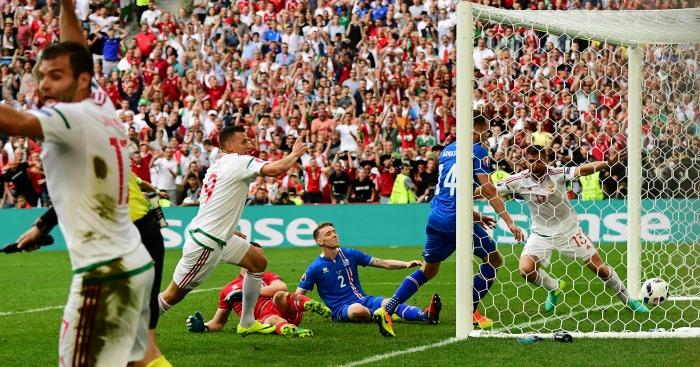 Birkir Saevarsson own goal Iceland v Hungary