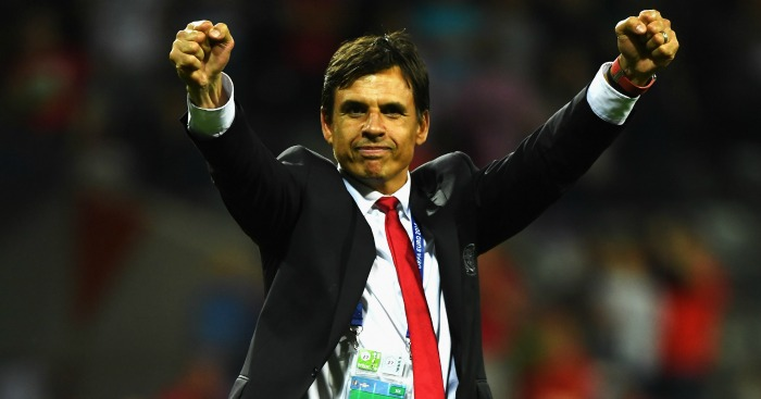 Chris Coleman: Celebrates Wales' success