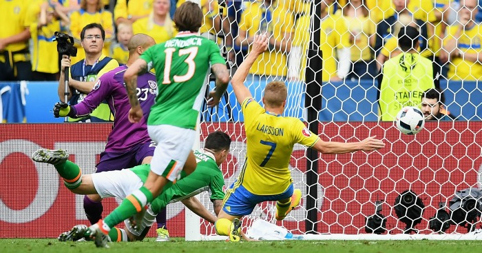 Ciaran Clark own goal Republic of Ireland v Sweden