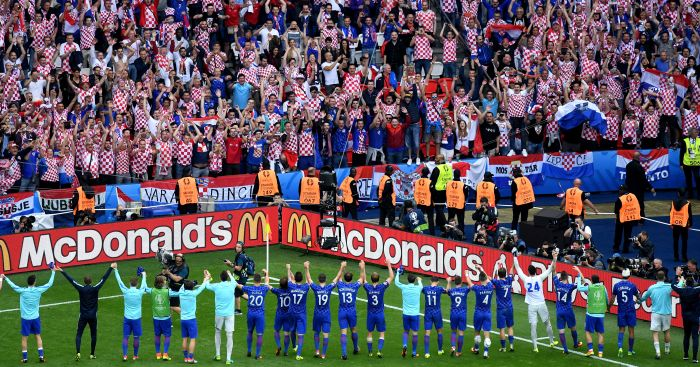 Croatia: Players take a bow in front of fans