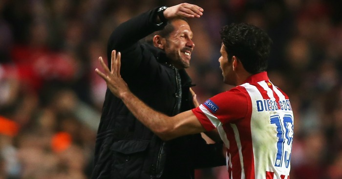 Diego Costa Diego Simeone Atletico Madrid 2014