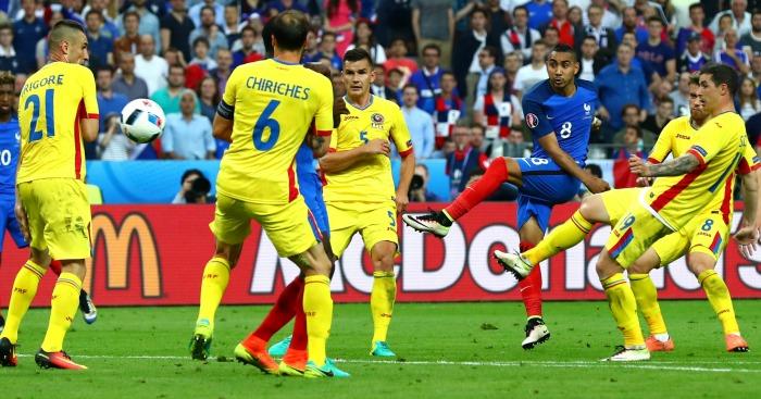 Dimitri Payet scores France v Romania