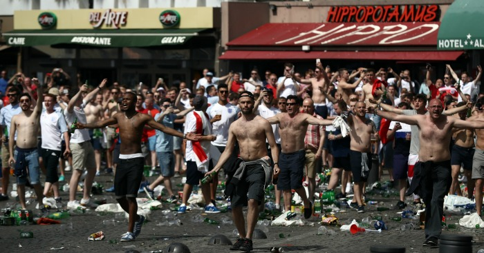 England fans: Caught up in trouble in Marseille