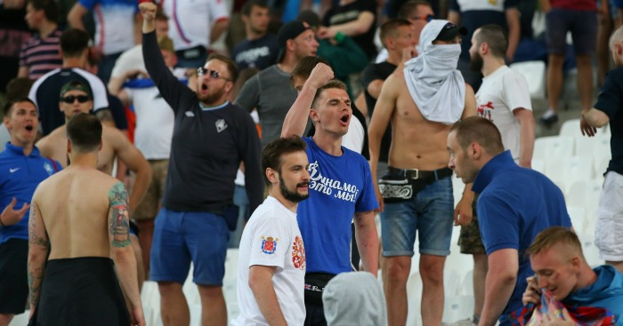 England v Russia fans 1