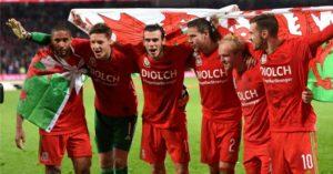 Gareth Bale Wales celebration