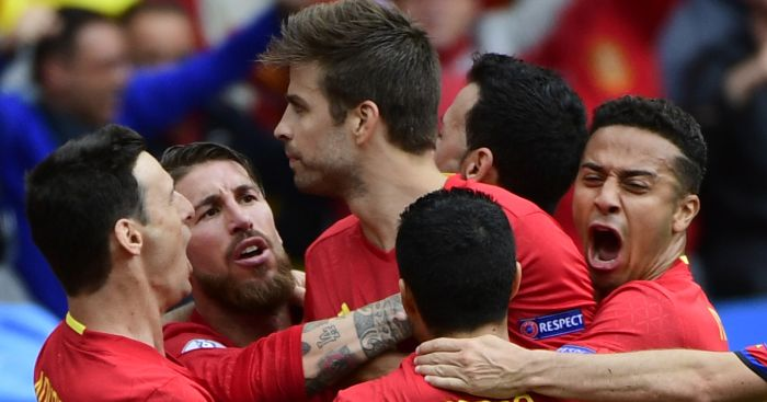 Gerard Pique: On target in narrow Spain victory
