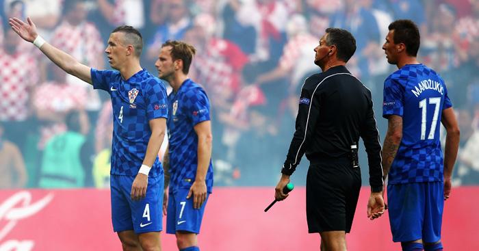 Disturbances: Croatian players plead for calm