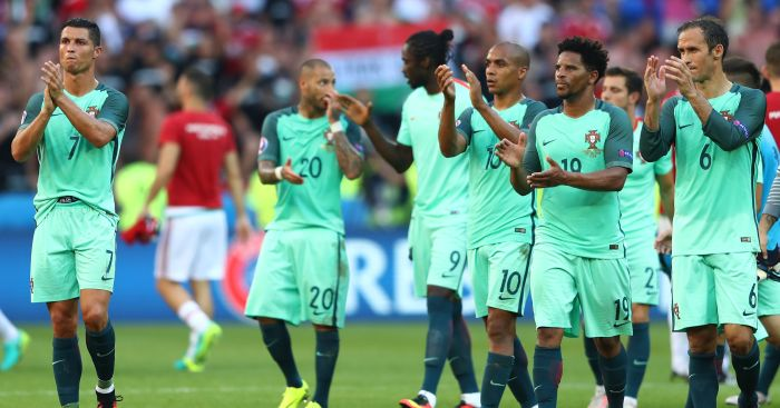 Portugal: Celebrate after reaching the last 16