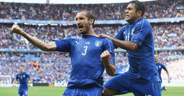 Giorgio Chiellini: Nets the winner as Italy get revenge for four years ago