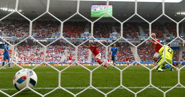 Hal Robson Kanu scores Wales v Slovakia