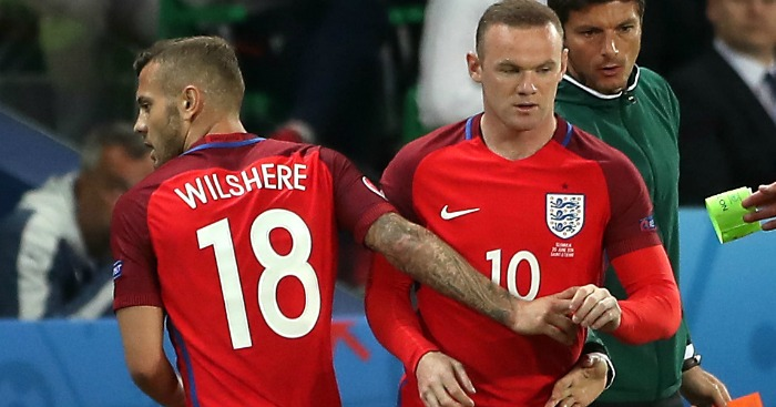 Jack Wilshere Wayne Rooney England