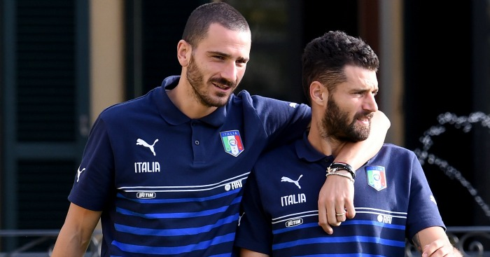 Leonardo Bonucci and Antonio Candreva: Linked with Chelsea