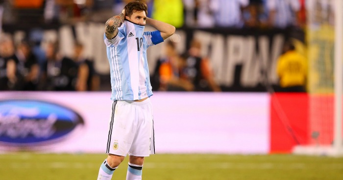 Lionel Messi: Retired from international duty