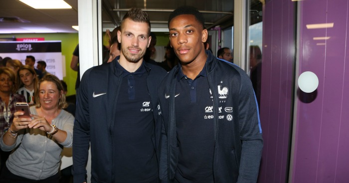 Morgan Schneiderlin: Joined Anthony Martial in France squad