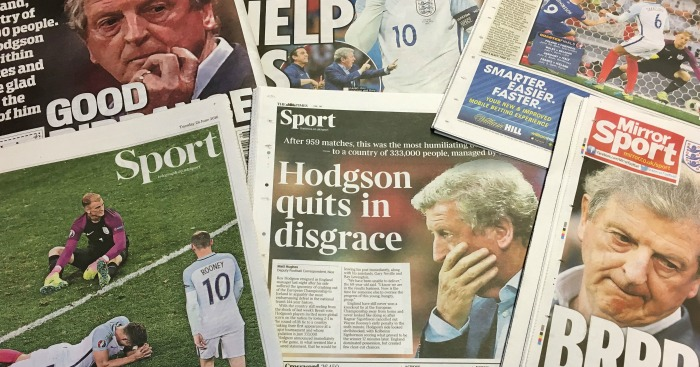 Roy Hodgson and England: Slammed by the national press