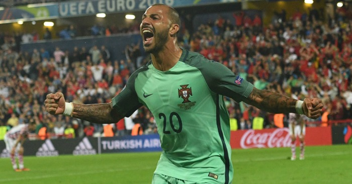 Ricardo Quaresma: Celebrates his extra-time winner