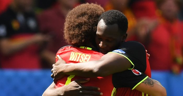 Romelu Lukaku: Celebrates with Axel Witsel