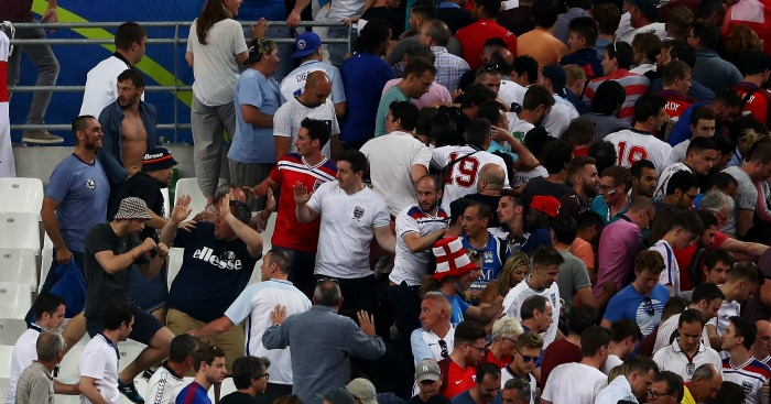 Russia fans: Attacked England fans in the stadium