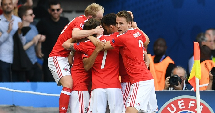 Wales: Celebrate their winner