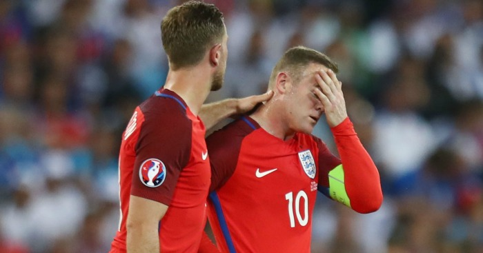 Wayne Rooney Jordan Henderson England