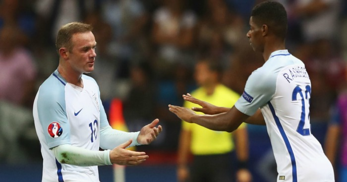 Wayne Rooney Marcus Rashford England