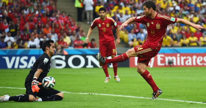 Xabi Alonso Spain 2014